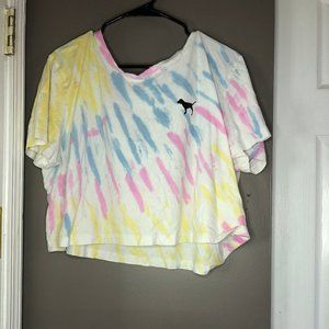 Pink Victoria Secret Tie Dye Crop Top